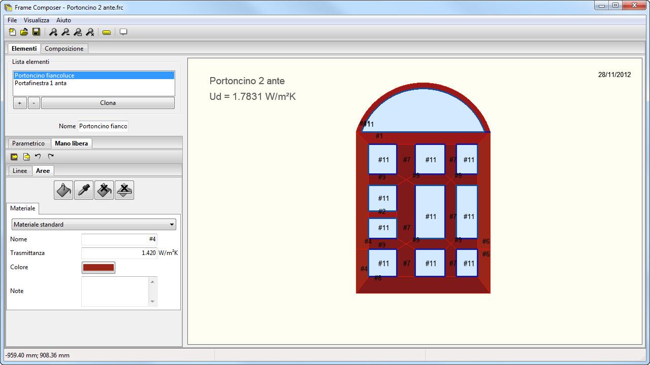 Frame composer calcolo trasmittanza serramenti e - Trasmittanza serramenti ...